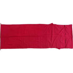 Basic Nature Cotton Sleeping Bag Liner Rectangular bordeaux